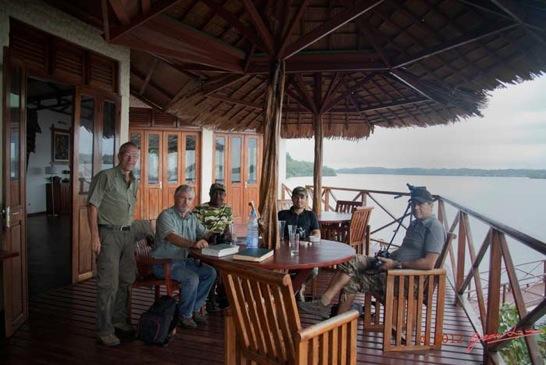 Loango lodge for Restaurant avec parc